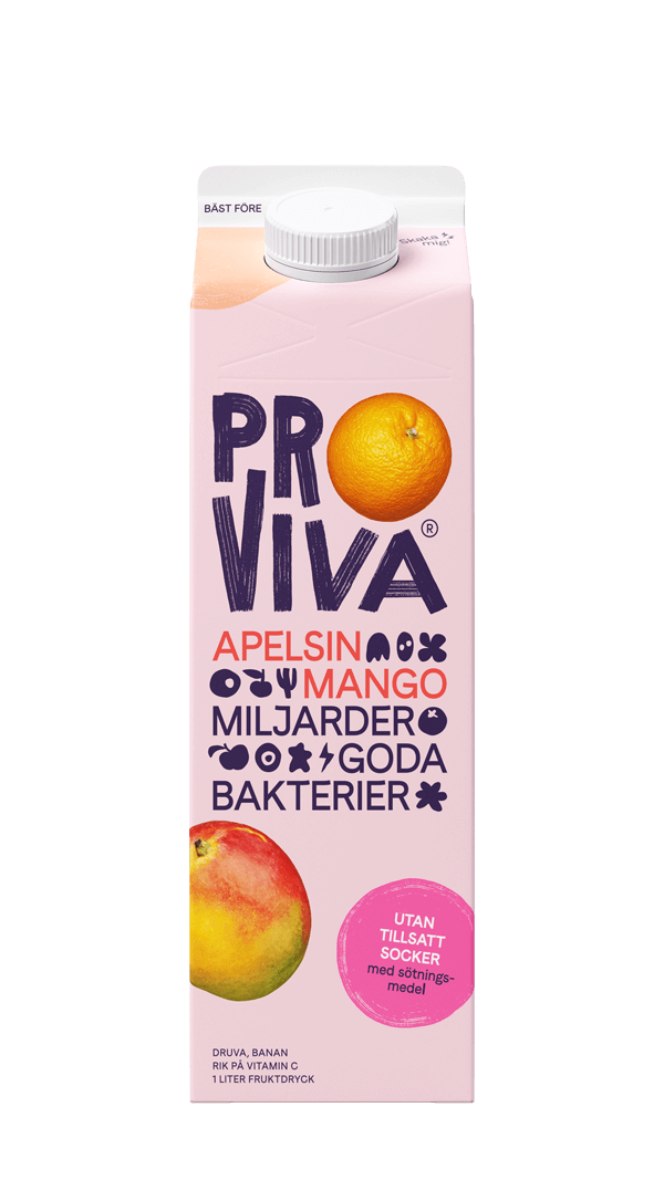 ProViva-Apelsin-Mango-Utan-socker-med-sötningsmedel-front