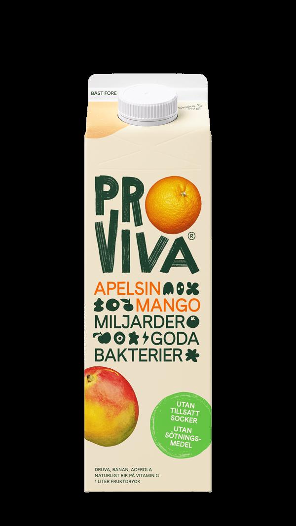 ProViva-Apelsin-Mango-utan-tillsatt-socker-med-sötningsmedel-front